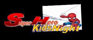 Super hero night logo